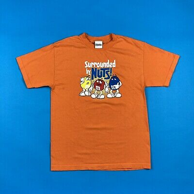 $20 • Buy Men's M&M's  Surrounded By Nuts  Orange Graphic T-Shirt Size M