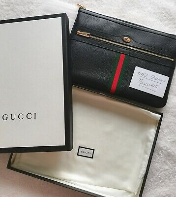 AU680 • Buy Discount Gucci Ophidia Pouch Leather Fullset Gg Cheap New