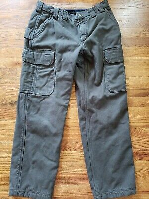 $35.99 • Buy Duluth Trading Company Mens Cargo Work Pants Size 34x32 Fleece Lined Army Green