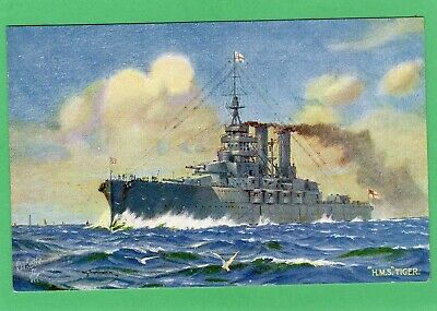 £7.50 • Buy HMS Tiger H G Swanwick  Latest Dreadnought Pc Our Navy Tuck Oilette 8755  AK232