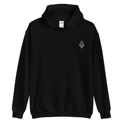 $ CDN61.93 • Buy Ethereum Outline Embroidery Hoodie ETH Crypto Trading Trader Gift Sweatshirt