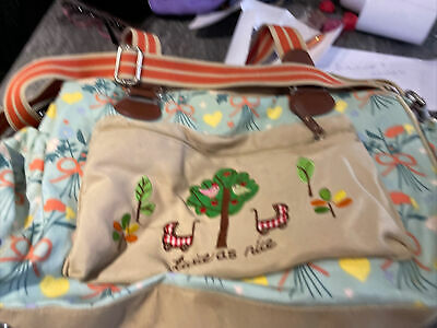 £0.99 • Buy Pink Lining Yummy Mummy Twice As Nice Twin Busy Bees Changing Bag Used Condition