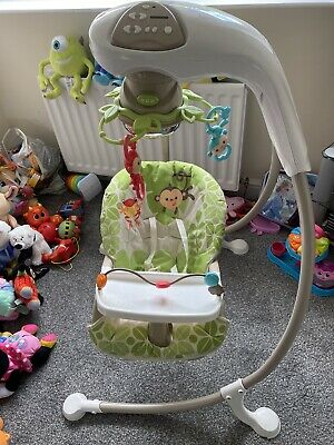 £12.50 • Buy Fisher Price Rainforest Baby Swing With Monkey Linkadoos. Immaculate 💕👶