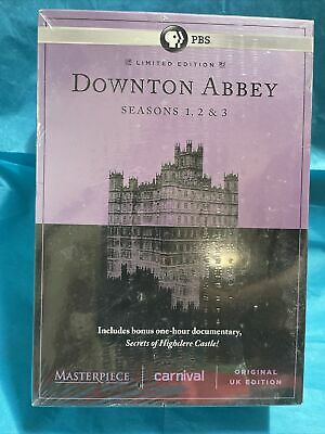 £7.24 • Buy Downtown Abbey Seasons 1,2, & 3 DVD Limited Edition 10 Disc Set New Sealed