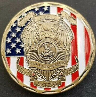 £5.49 • Buy US POLICE OFFICER  Challenge Coin FREE COIN STAND AND BRAND NEW FITTED COIN CAPS