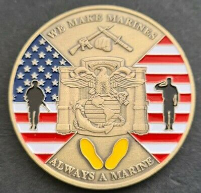 £5.49 • Buy WE MAKE MARINES Challenge Coin FREE COIN STAND AND BRAND NEW FITTED COIN CAPSULE