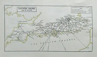 £6 • Buy Southern Railway Map Of The System C1923