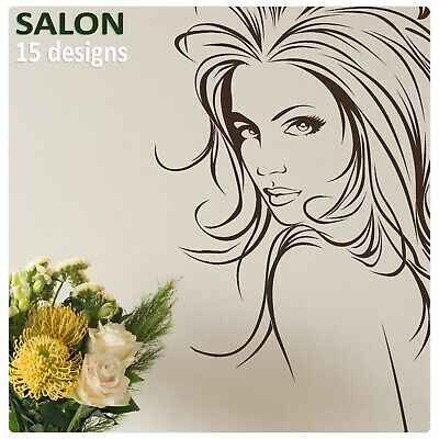£14.99 • Buy Salon Wall Stickers Vinyl Transfer Hairdresser Decor Decal Hair & Beauty Graphic