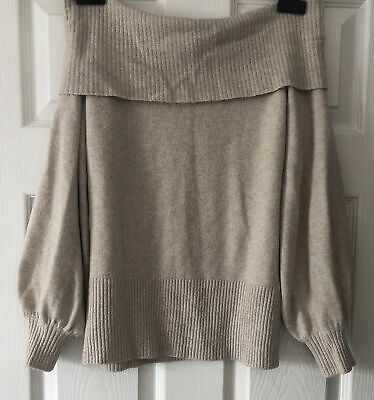 £1.50 • Buy Womens River Island Size 10 Bardot Off The Shoulder Wool Blend Jumper Size Small