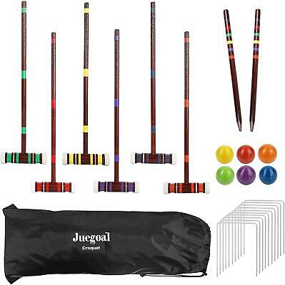 £43.16 • Buy Vintage Croquet Set Wooden Mallet Outdoor Sports Backyard Lawn Games 6 Player