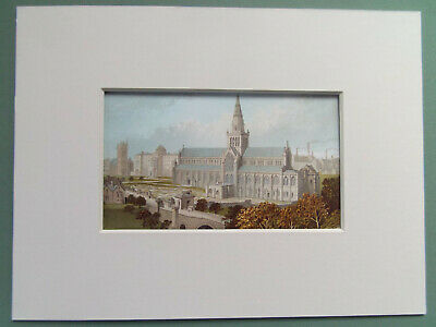 £5.99 • Buy GLASGOW CATHEDRAL SCOTLAND  OLD PRINT  6 X8   MOUNT  DATED 1888 READY TO FRAME