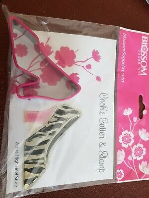 £1.50 • Buy Blossom Sugar Art Shoe Cookie Cutter With Zebra Stamp. New