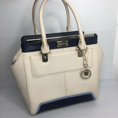AU24.95 • Buy Forever New Tote Womens Handbag Large Zip Up Two Toned Bag