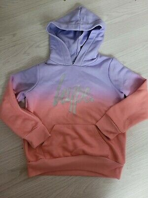 £1 • Buy Girls 7-8 Ombre Pink And Purple Hype Hoodie River Island