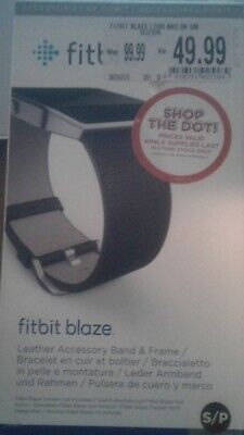 $ CDN13.90 • Buy Fitbit Blaze Accessory Replacement Leather Wrist Band & Frame Small Black OEM