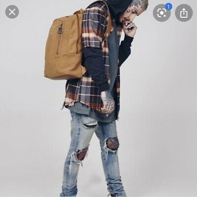 £40 • Buy Drop Dead Clothing Taupe Backpack New Without Tags BMTH Unisex Oli Sykes