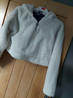 AU9.22 • Buy Pull And Bear Fluffy Jacket Size M