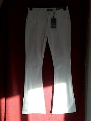 £8 • Buy Dorothy Perkins Women's White Flare Jeans - UK Size 12R NEW WITH TAGS