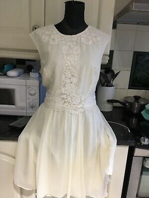 AU92.22 • Buy Ted Baker Cream Beaded Special Occasion Dress Size 4