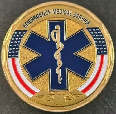 £5.99 • Buy EMERGENCY MEDICAL SERVICES Challenge Coin FREE COIN STAND AND BRAND NEW FITTED C