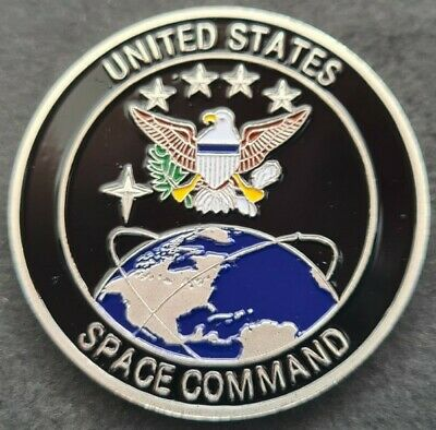 £5.99 • Buy US SPACE COMMAND Challenge Coin FREE COIN STAND AND BRAND NEW FITTED COIN CAPSUL