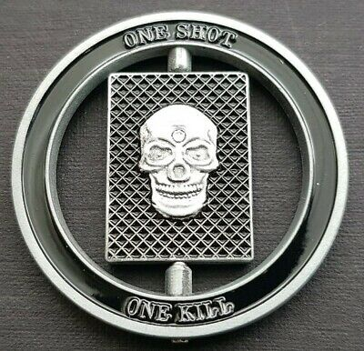 £5.49 • Buy ONE SHOT ONE KILL(with Middle Spinner)Challenge Coin FREE COIN STAND AND BRAN