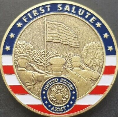 £5.99 • Buy US ARMY First Salute OATH OF OFFICE Challenge Coin FREE COIN STAND AND BRAND NEW