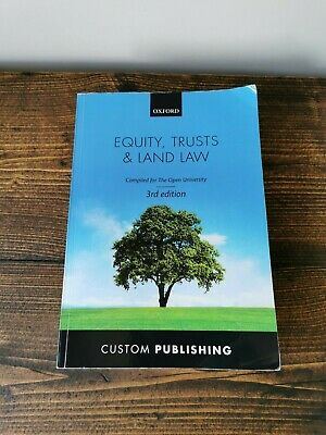 £10.95 • Buy Equity, Trusts And Land Law Custom Publishing Open University Oxford Textbook OU