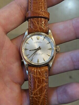 £718.50 • Buy Rolex Vintage Oyster Perpetual 31mm 6551 Yellow Gold Silver Index Dial Watch