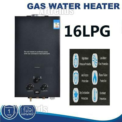 £149.19 • Buy 16L LPG Tankless Gas Hot Water Heater Camping Instant Propane Water Heater UK