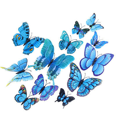 £2.89 • Buy 12PCS 3D Butterfly Wall Stickers Home Room Decorations Art Decals Decor Bedroom