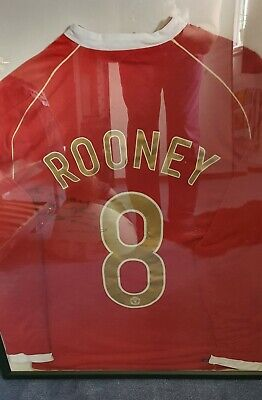 £101 • Buy Wayne Rooney Signed Shirt To Danny 2006 Number 8 RARE