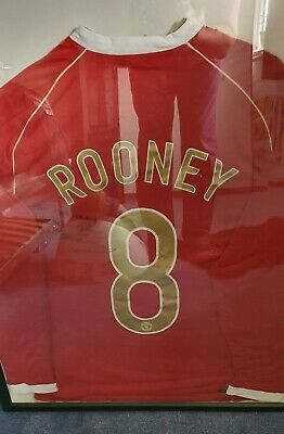 £81 • Buy Wayne Rooney Signed Shirt To Danny 2006 Number 8 RARE