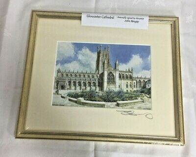 £10 • Buy Personally Signed Gloucester Cathedral Framed Picture By John Bangay Unopened
