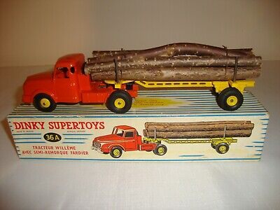£89 • Buy Original FRENCH DINKY 36A WILLEME LOG LORRY - EXCELLENT In Original BOX