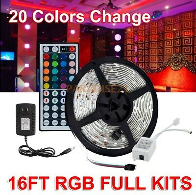 $17.08 • Buy Controll+Power 16.5Ft RGB LED Light Strip Waterproof Party Room Tape Decor Lamp
