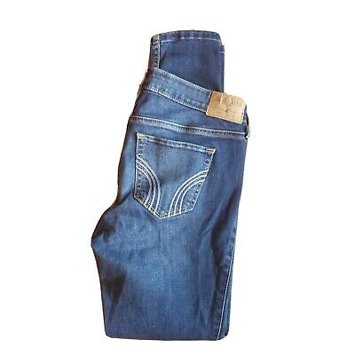 £19.56 • Buy Hollister Size 5S Low Rise Super Skinny Jeans Medium Wash Distressed Whiskers