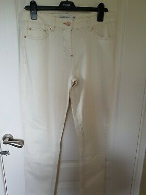 £9.99 • Buy Next Relaxed Skinny Mid Rise Cream Jeans Size 12 Regular Bnew
