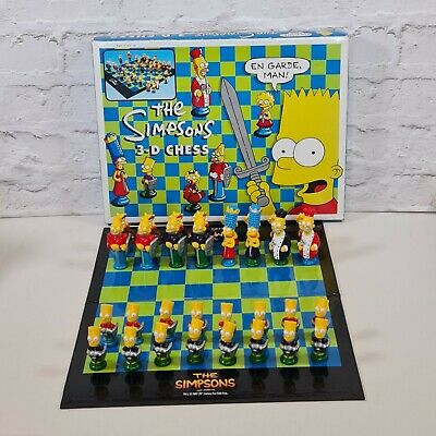 £28.99 • Buy The Simpsons 3D Chess Set Board Game 1991 Bart Simpson Homer Simpson