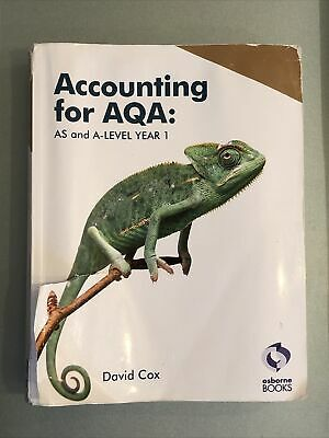 £1.99 • Buy Accounting For AQA : AS And A Level Year 1 (Complete Resource For AQA Exams)