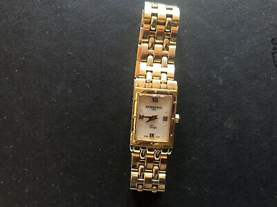 £115 • Buy Ladies Raymond Weil Gold Electroplated Tango Watch 5971 (New Battery Needed)