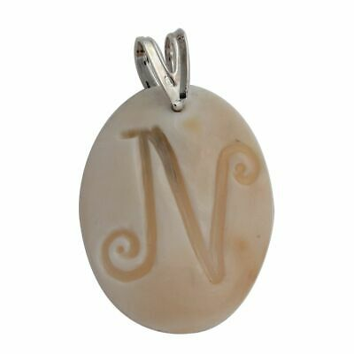 $53.97 • Buy HSN Italy Cameo By M+M Scognamiglio Cornelian Handcarved N Initial Pendant