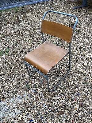 £22 • Buy 1 Ply Vintage Stacking School Chair Wooden Antique Industrial Kitchen Dining