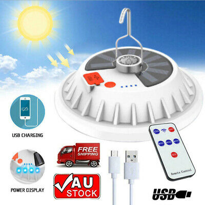 AU18.85 • Buy Rechargeable 120 LED Outdoor Camping Tent Light USB Solar Lantern Hiking Lamp AU