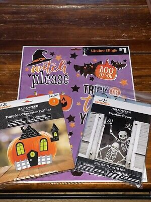 $ CDN12.97 • Buy Lot Of Halloween Decorations-Window Stickers/Cover And Pumpkin Push-Ins