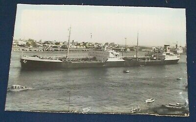 £4.99 • Buy Early Photograph Of A Large Freight Ship Stuck To Card In Fair Condition