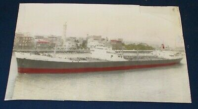 £4.99 • Buy Early Photograph Of A Large Freight Ship In Fair Condition