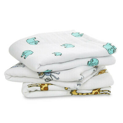 £15 • Buy Aden + Anais, 3 X 100% Cotton Muslin Swaddle Blankets, 120cm Square, Breathable