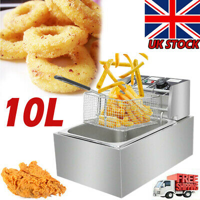 £30.88 • Buy Electric Deep Fat Fryer 6L Non Stick Stainless Steel Oil  Home Fast Chip Frying