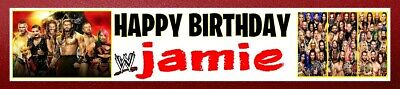 £2.99 • Buy New Wwe Wrestling Personalised Birthday Celebration Party Banner